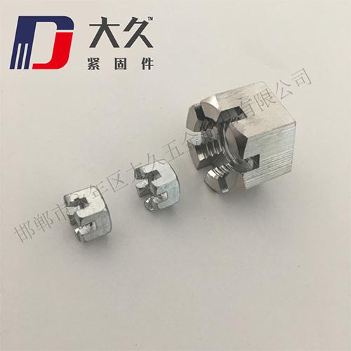 GB6178镀锌六角开槽螺母