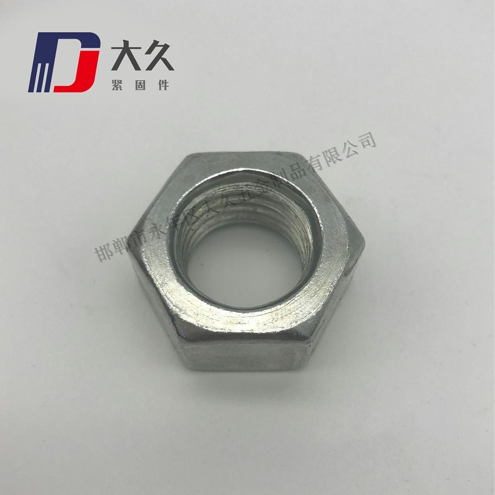 德标DIN934镀锌六角螺母