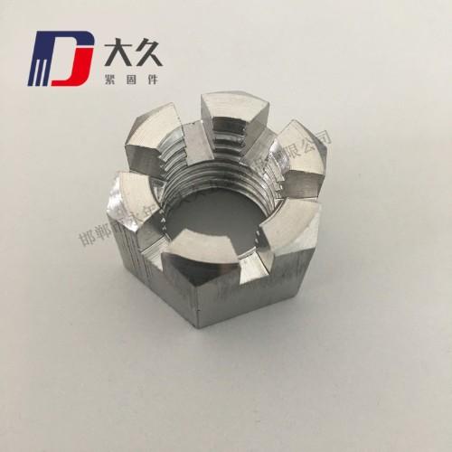 高强度8级GB58镀锌开槽螺母