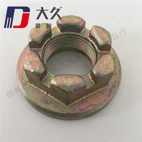 4级GB58镀锌六角开槽螺母