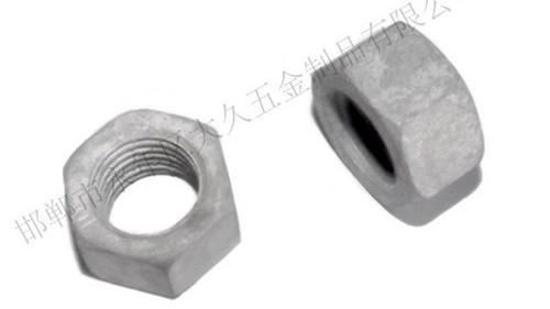 大久紧固件介绍热浸锌螺母标准